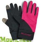 【Mountneer 山林 中性抗UV觸控手套 桃紅】11G01/觸控手套/觸控手機/手套