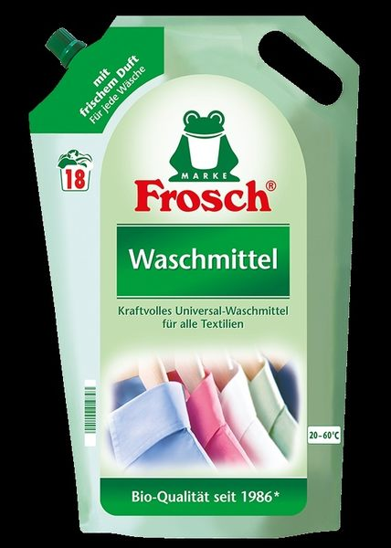 Frosch德國小綠蛙 天然增豔洗衣精補充包1800ml*8包/箱