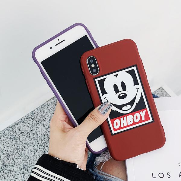 【SZ15】iphone11手機殼 糖果紫色米奇米妮 iphone xs max手機殼 xr iphone 8 plus手機殼 i6s plus 手機殼