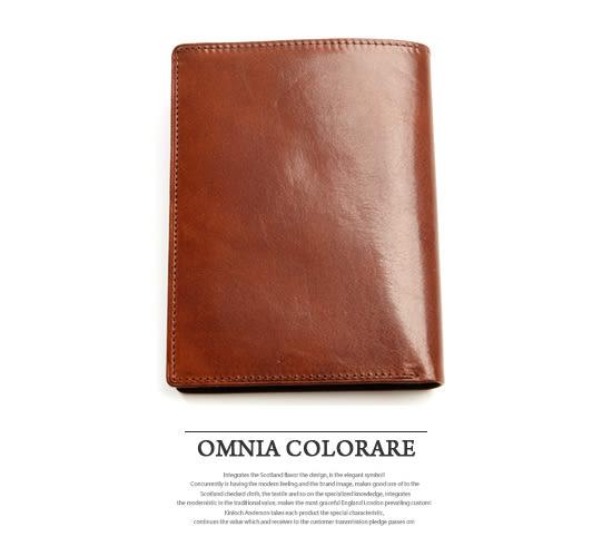 OMC - 原皮魅力真皮款多卡式護照夾