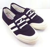 韓系帆布懶人鞋《7+1童鞋》D241黑色