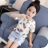 兒童短袖夏季2018新款童裝女大童印花T恤韓版洋氣打底衫女童半袖限時大降價!