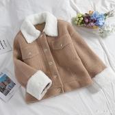 皮毛一體羊羔毛外套女短款新款chic冬季麂皮絨毛絨絨夾克 LF883【甜心小妮童裝】