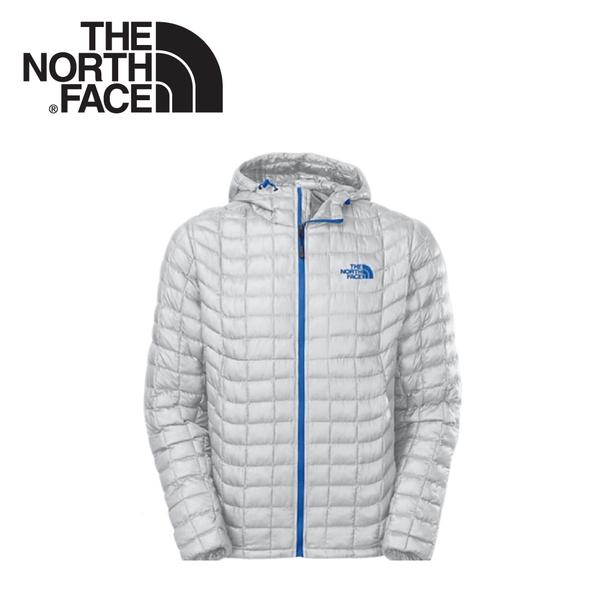 【The North Face 男 TB保暖兜帽外套《灰白》】C761/羽絨外套/輕量/防風外套