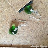 耳環 心形水晶耳環925純銀防過敏耳鉤氣質百搭小耳環可愛女生耳飾  瑪麗蓮安