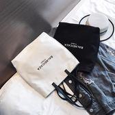 帆布包 女包2018新款韓版ins文藝帆布包chic簡約百搭布袋手提包單肩大包 霓裳細軟