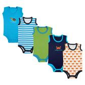 Luvable Friends 無袖背心包屁衣 五件組 橘螃蟹 | 男寶寶連身衣(嬰幼兒/baby/新生兒)