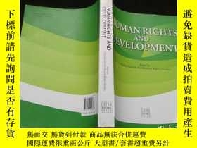 二手書博民逛書店Human罕見rights and development(人權