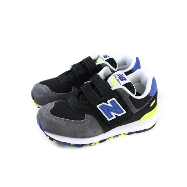 New Balance 574系列(童鞋)  -黑灰色魔鬼氈童鞋(中童)- NO.YV574UJC