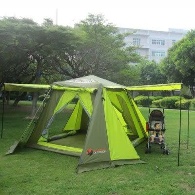 自動帳篷 雙層3-4人防暴雨速開帳篷【藍星居家】