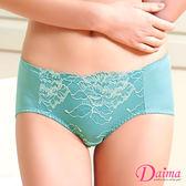 內褲 肌蕾絲親膚彈力內褲 (綠色)【Daima黛瑪】
