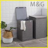 洗衣籃 棉麻可水洗臟衣籃收納筐臟衣服簍家用布藝折疊式帶蓋收納籃置物桶
