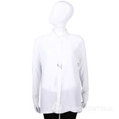 MAX MARA-SPORTMAX 白x水藍色拼接長袖襯衫 1520886-77