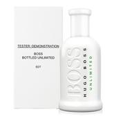 【HUGO BOSS】Bottled Unlimited 自信 無限 男香 100ml TESTER-環保盒有蓋