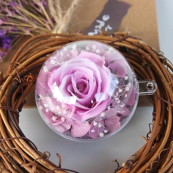 永生花玫瑰5公分花球(可任意搭配鑰匙圈)
