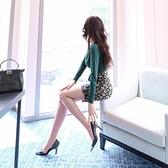 夜場女裝性感長袖洋裝2020春秋新款氣質名媛包臀修身顯瘦打底裙