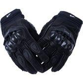 【東門城】ASTONE LC01 真皮碳纖維護具手套(黑) 開放式護具