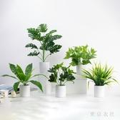 網紅仿真綠植小盆栽北歐客廳餐桌仿真花套裝裝飾植物桌面擺件盆景XL1865【東京衣社】
