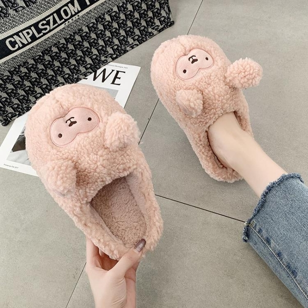 包頭毛毛拖鞋女外穿2020新款秋季居家室內潮流韓版可愛保暖棉拖鞋 後街五號