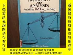 二手書博民逛書店ARGUMENT罕見AND ANALYSIS:READING,T