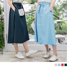 《CA686-》素色綁帶雙口袋中線造型A...