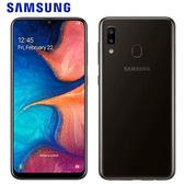 Samsung三星 Galaxy A20 6.4吋智慧型手機(3G/32G)-黑色【愛買】