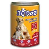 ★超值4件組★IQ Dog狗罐頭-雞肉+米口味400g【愛買】