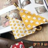 日系寵物飾品貓咪狗狗項圈三角口水巾圍巾卡通圍脖【倪醬小舖】