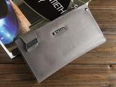 真皮手拿包-優質設計個性男包包2色8m43【巴黎精品】