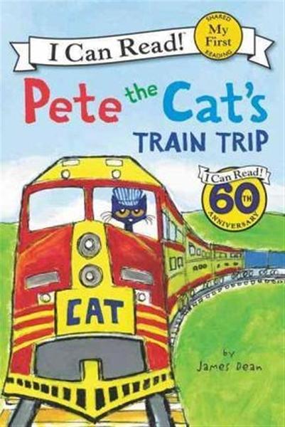 (二手書)An I Can Read My First I Can Read Book: Pete the Cat's Train Tri..