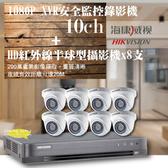 高雄監視器/200萬1080P-TVI/套裝組合【8路監視器+200萬半球型攝影機*8支】DIY組合優惠價