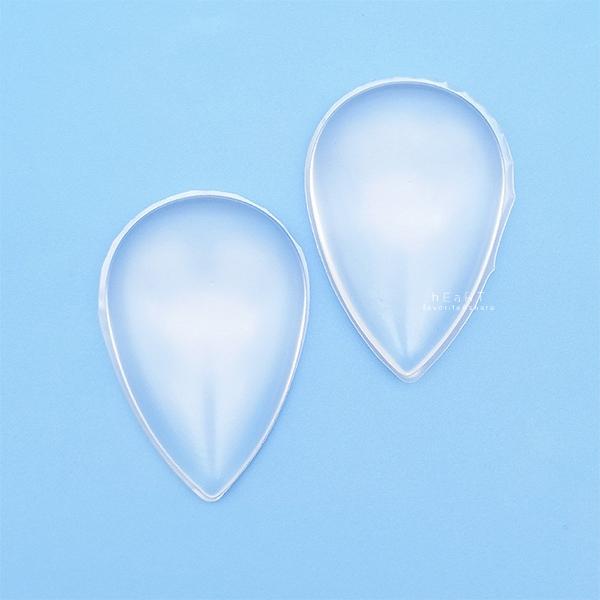 水滴形透明矽膠軟粉撲 粉撲 透明粉撲 水滴形粉撲