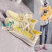 大碼運動鞋飛織鞋女韓版運動休閒鞋軟底椰子鞋網面透氣【風之海】