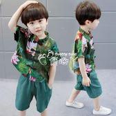 男童套裝 兒童男童套裝寶寶復古童裝棉麻唐裝亞麻中式民族風兩件套 俏腳丫