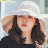 帽子女夏天新款加大帽沿遮陽帽春季紫外線