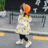 女童外套秋裝2020新款女寶寶洋氣春秋童裝小兒童風衣秋冬加厚棉服 滿天星