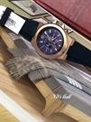 『Marc Jacobs旗艦店』 MichaelKorsMK8295美國MK炫彩藍玫瑰金矽膠錶帶三眼計時腕錶全新正品實拍