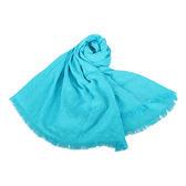 CalvinKlein CK滿版LOGO絲質寬版披肩圍巾(水藍色)103252-8