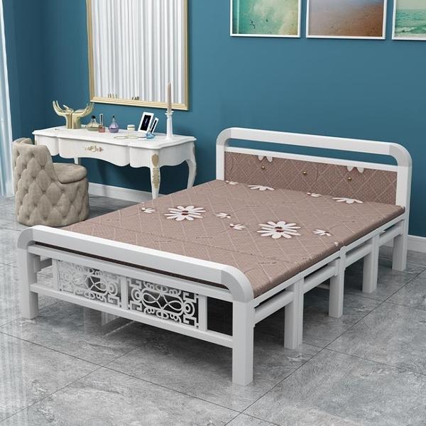 可折疊床四折床單人雙人床木板床鐵架床簡易午休便攜硬床1.5米床 設計師