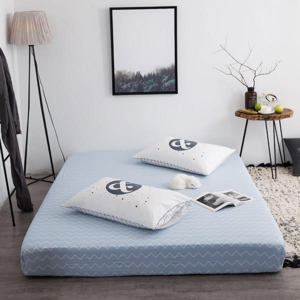 TOOKI & CO【Z433293】(加大單人床適用)多款圖案幾何造型整圈鬆緊帶設計棉質床包/床笠/寢具-Leap