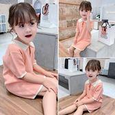 女童T恤 2019夏裝新款兒童韓版棉質上衣 小女孩寶寶中長款洋氣短袖