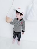 寶寶長袖t恤男1-3歲男童韓版洋氣打底衫小男孩翻領條紋長袖上衣 奇思妙想屋