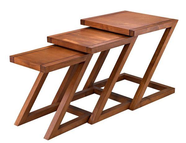 Z型三合一方套几【SCANDINAVIAN現代北歐】實木家具 WMTB10T1