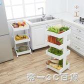 廚房移動置物架帶輪臥室書架多功能層架果蔬儲物架浴室收納架【帝一3C旗艦】YTL