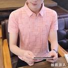 Polo衫男士短袖t恤帥氣丅半袖體桖大碼冰絲潮流夏季襯衫領男裝上衣服翻領衫LXY7443【極致男人】