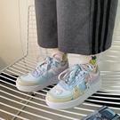 學院風軟妹鴛鴦平底拼色運動鞋ulzzang港味街拍休閒小白鞋板鞋女 寶貝計畫 618狂歡