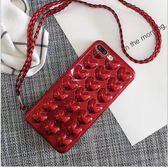 [24H 台灣現貨] iphone6s 7 8 plus iphone x 手機殼 電鍍大紅色 立體愛心 tpu 軟殼 保護套