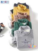 男童刷毛打底衫2018秋冬季新款兒童洋氣韓版保暖上衣寶寶條紋衛衣