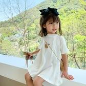兒童洋裝 兒童T恤裙夏裝2020新款中小女童短袖洋裝子寶寶洋氣韓版公主裙