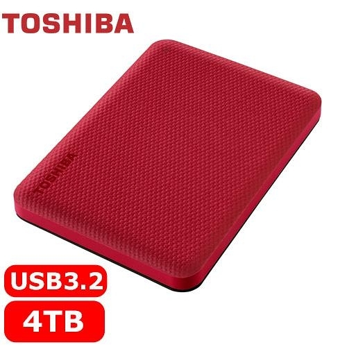 TOSHIBA Canvio Advance V10 4TB 外接式硬碟 紅